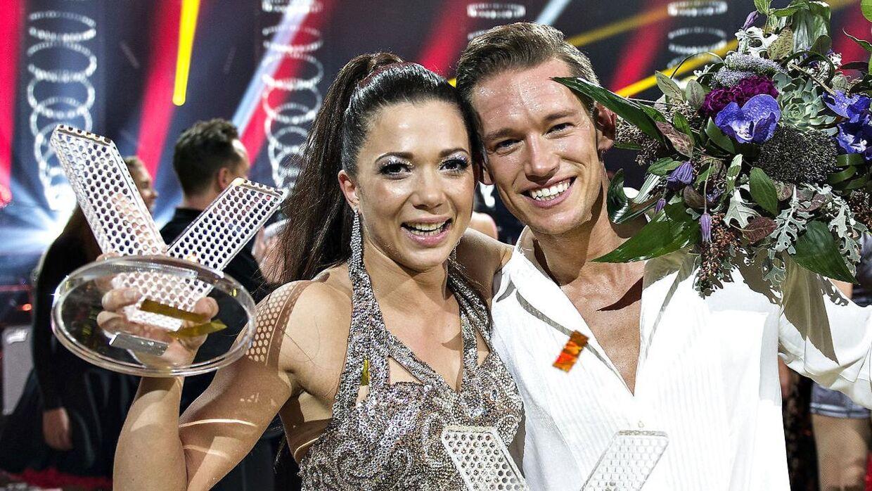 Sarah Mahfoud og Morten Kjeldgaard vandt 'Vild med Dans' i 2016. (foto: Henning Bagger / Scanpix 2016)