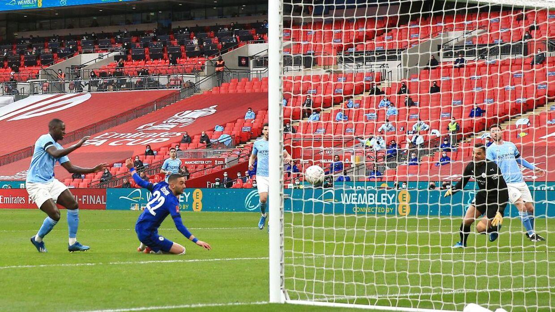 Arkivfoto fra lørdagens kamp mellem Chelsea og Manchester City.