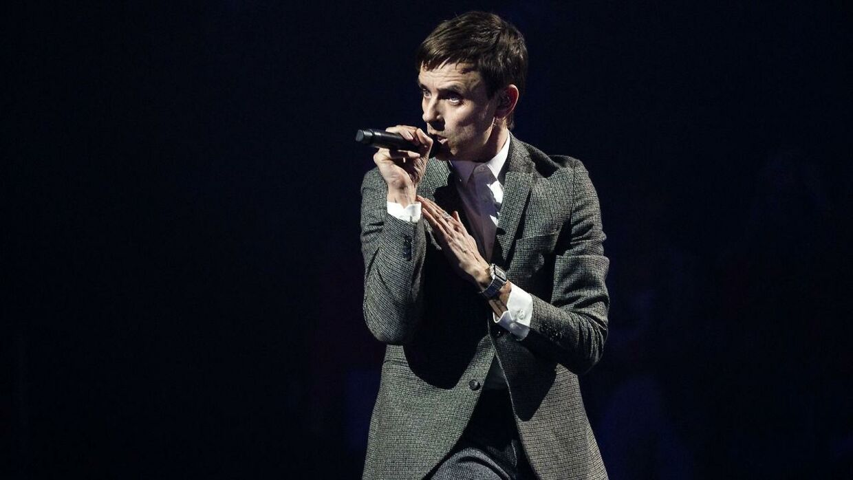 Simon Kvamm. X Factor finale, på TV2 fredag den 9. april 2021. (foto: Martin Sylvest/Ritzau Scanpix 2021).