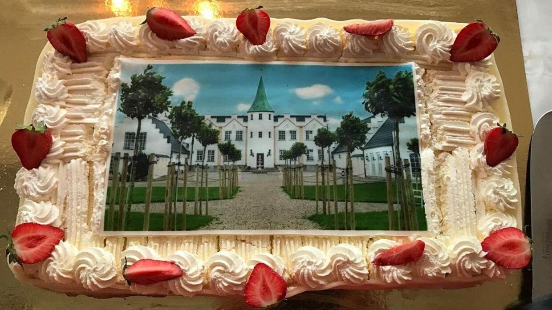 Susan Astani fik på et tidspunkt lavet denne kage med sit slot, Sophienlyst, på.