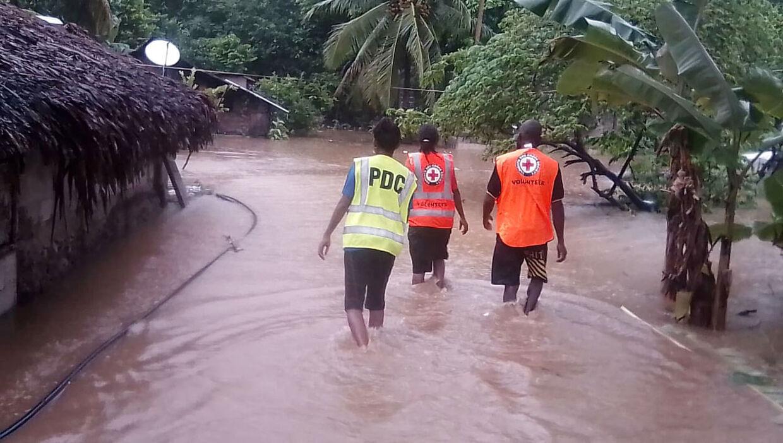 I april måned 2020 blev Vanuatu ramt af en ødelæggende tyfon.