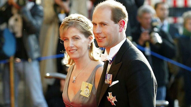 Герцогиня Софи Уэссекская и принц Эдвард здесь на свадьбе наследного принца Фредерика.