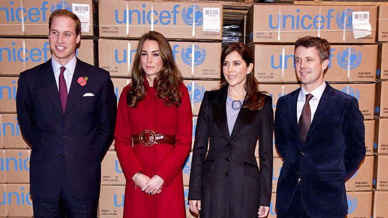 Кейт и Уильям посетили Unicef в Дании в 2011 году.