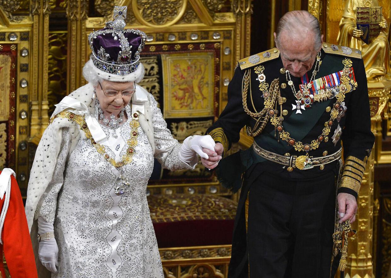 Dronning Elizabeth og prins Philip.