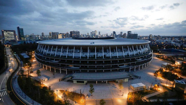 Nationalstadionet i OL-byen i Tokyo bliver uden udenlandske fans på lægterne.