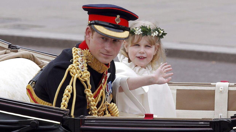 Som syvårig var lady Louise brudepige ved Kate og Williams bryllup.