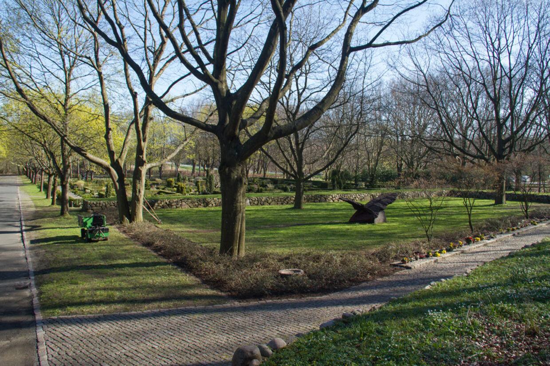 Fællesplænen på Vestre Kirkegård i Horsens, hvor Tove Jacobsen ligger.