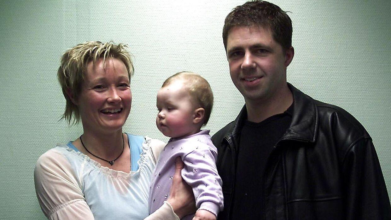 Anette Hoffmann med manden Henrik og datteren Josephine.