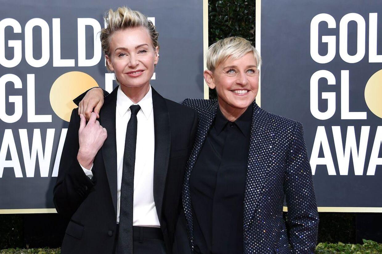 Kendis-parret bestående af Ellen DeGeneres og Portia De Rossi.