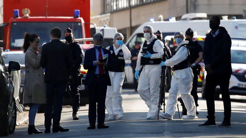 Politiet på gerningsstedet efter terrorangrebet. REUTERS/Gonzalo Fuentes