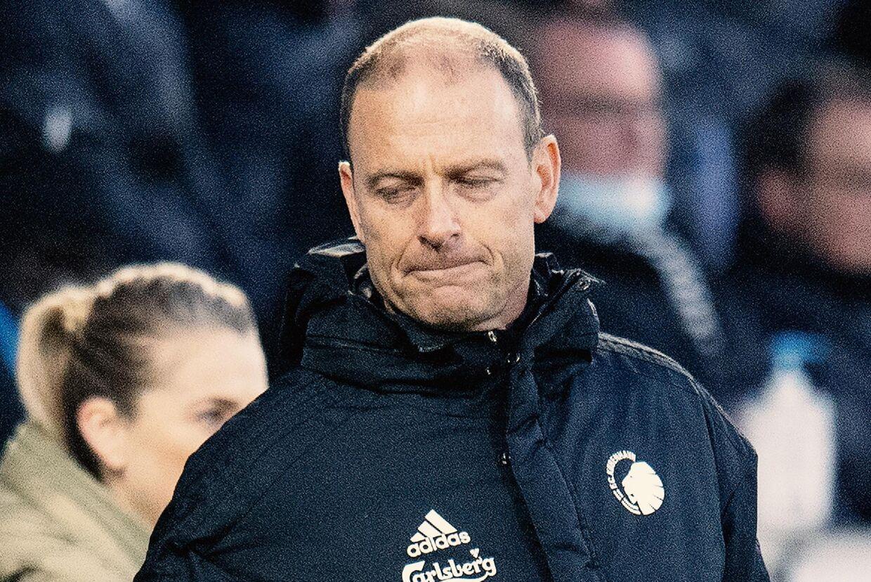 En frustreret FCK-træner på MCH Arena i kampen mod FC Midtjylland