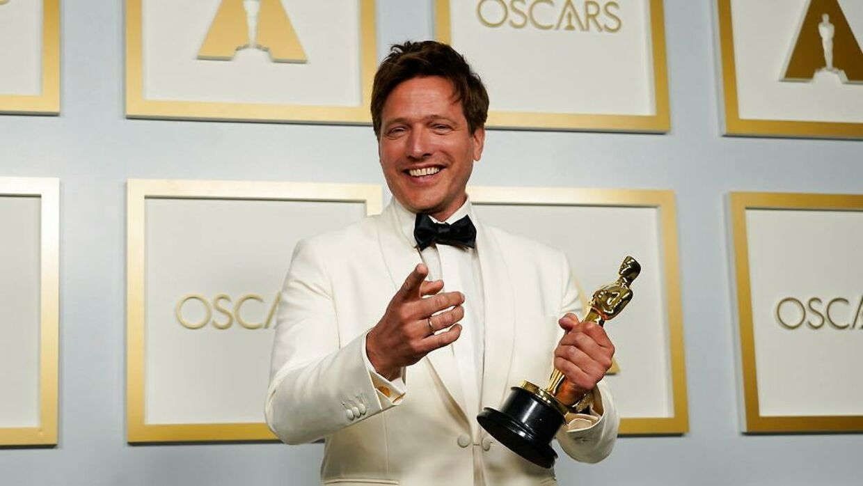 Thomas Vinterberg havde svært ved at skjule begejstringen, da han vandt en Oscar.