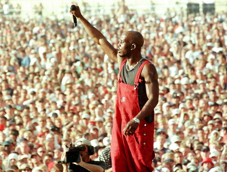 DMX afholdt store koncerter, som her på Woodstock festival i New York i 1999. Foto REUTERS/Joe Traver.