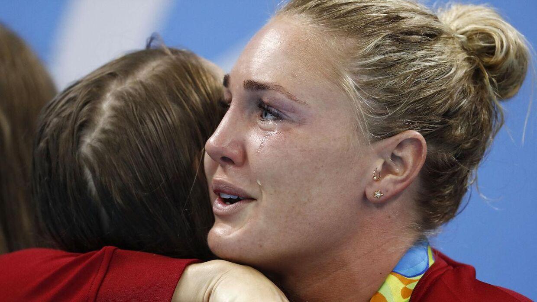Jeanette Ottesen var rørt til tårer, da holdkappen vandt bronze ved OL i Rio i 2016.