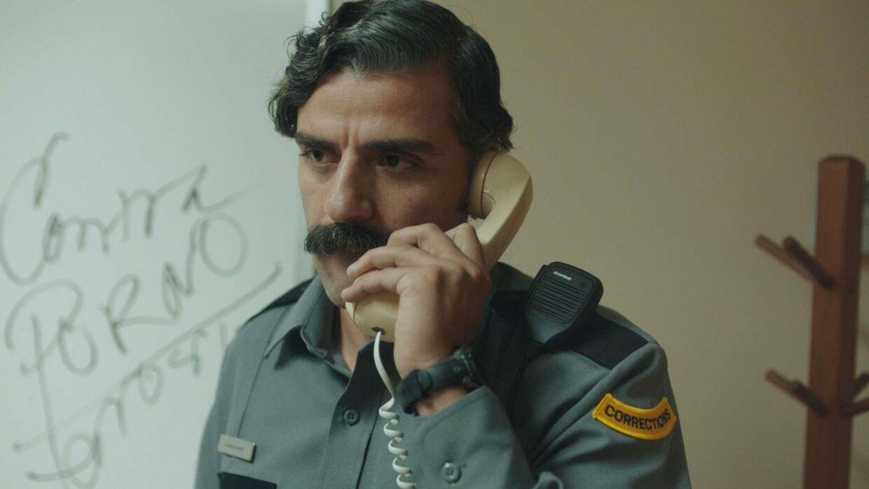 Oscar Isaac spiller i 'The Letter Room' fængselsbetjenten Richard.