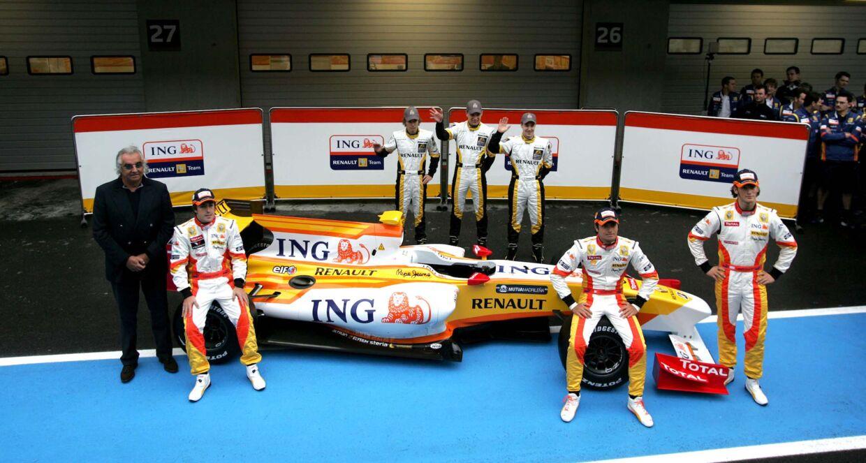 Marco Sørensen (bagerste række i midten) var i en årrække juniorkører hos Renault/Lotus
