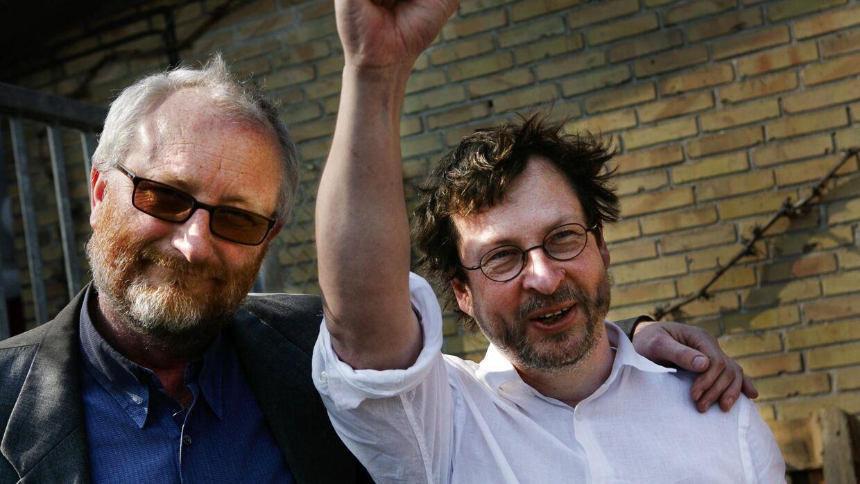 Zentropa-grundlæggerne Peter Aalbæk Jensen og Lars von Trier.