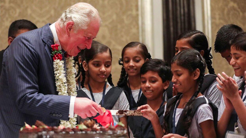Prins Charles ses her under sit besæg i Indien i 2019.