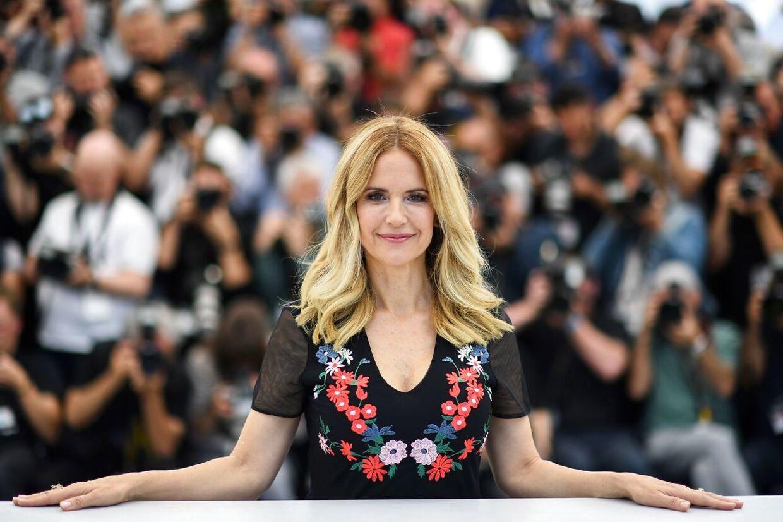 Kelly Preston til Cannes Film Festival i 2018. (Photo by Loic VENANCE / AFP).