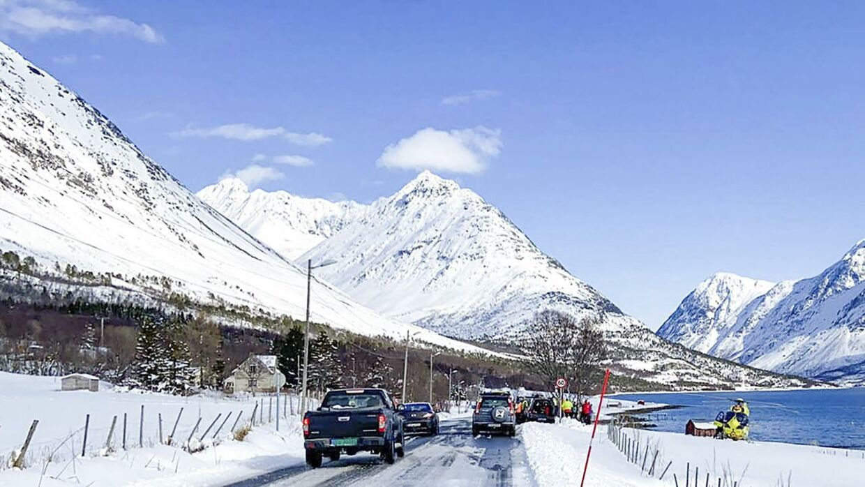 Det er i området her, at sneskredet skete. Foto: Elivra Kolsing/Nordlys / NTB