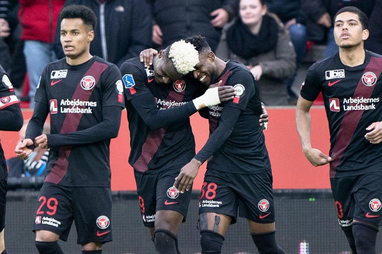 Det kører for FC Midtjyllands offensive spillere i øjeblikket. Holdet har i alt scoret 13 gange i de seneste fire kampe. Henning Bagger/Ritzau Scanpix