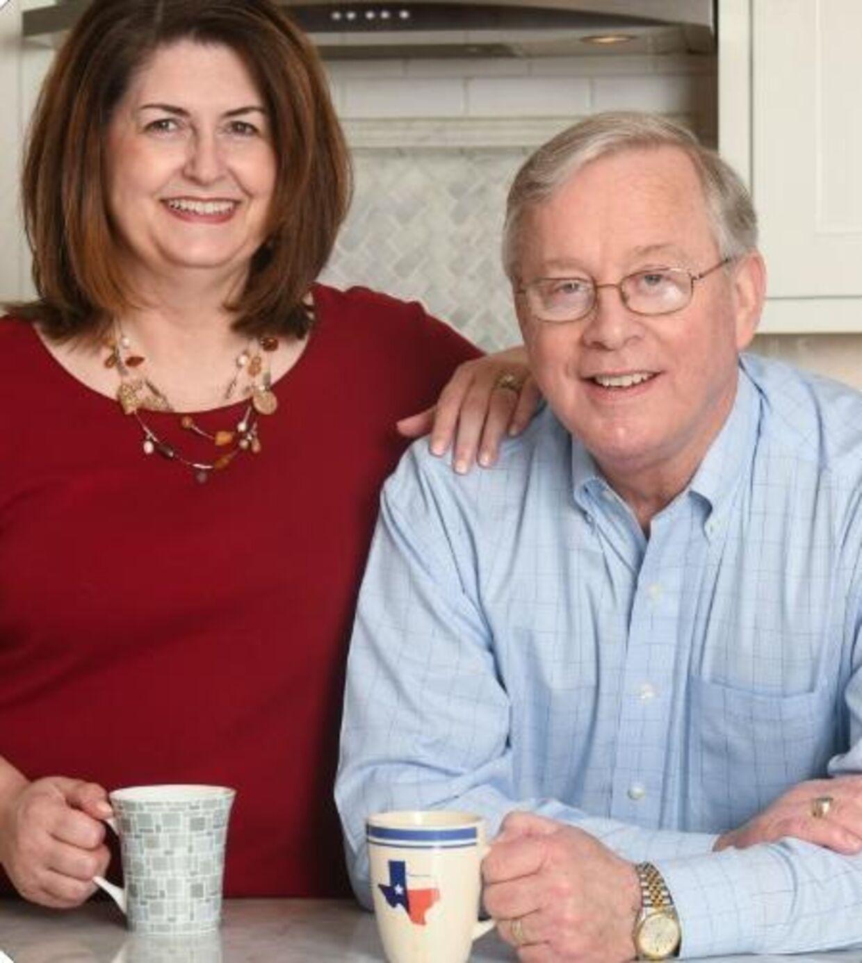 Susan Wright med den afdøde ægtemand, Ron Wright.
