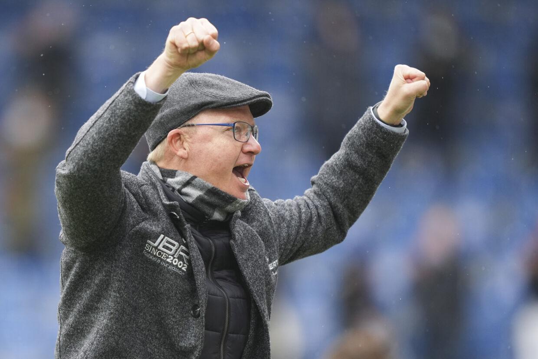 Glen Riddersholm og Sønderjyske har reddet sig i Superligaen og kan se frem mod pokalfinalen. Claus Fisker/Ritzau Scanpix