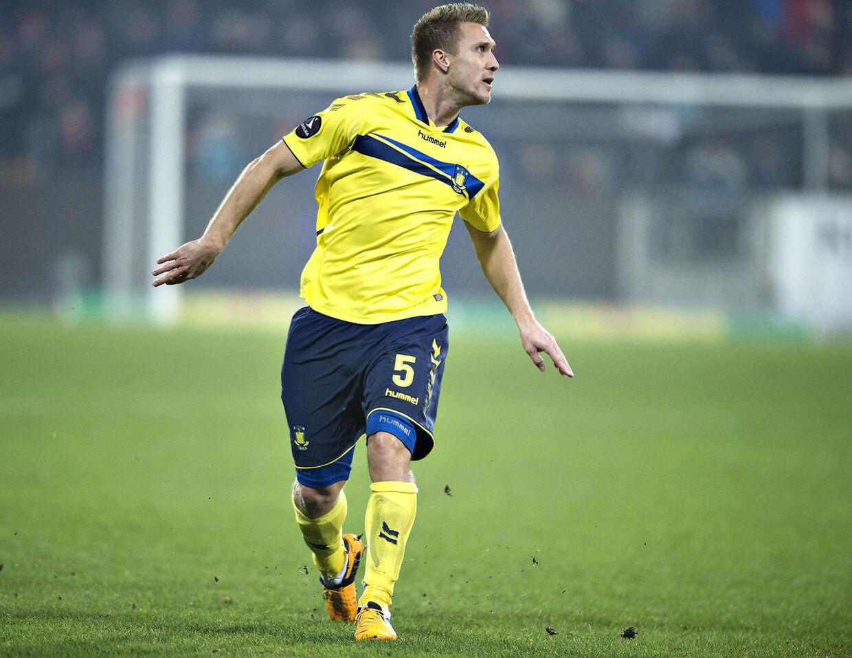 : FC Midtjylland - Brøndby . Superliga. MCH-Arena, Herning.: Brøndbys Martin Albrechtsen