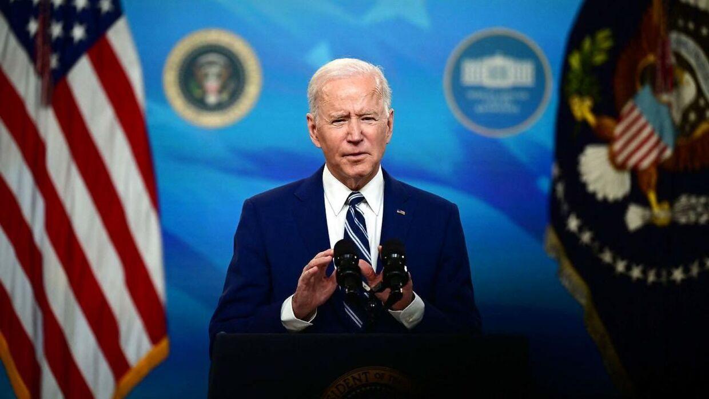 Joe Biden ved talerstolen.
