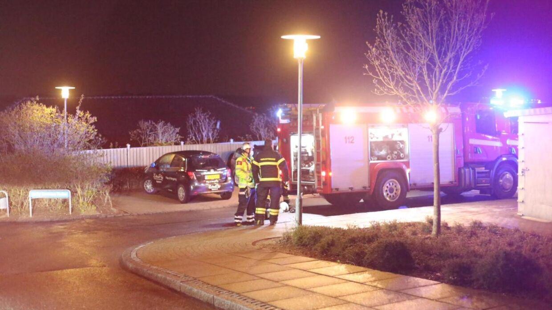 En person er omkommet efter en brand i Betty Sørensen Parken i Vejle. Foto: Presse-fotos.dk