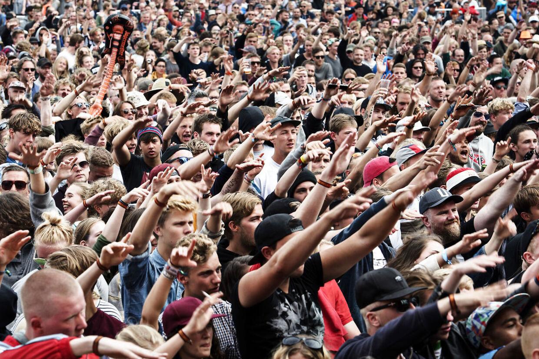 (ARKIV) House Of Pain på Orange Scene på Roskilde Festival torsdag den 30. juni 2016. Genåbningsaftale lægger op til maksimalt 2000 deltagere ved festivaler mellem 21. maj og 1. august. Det skriver Ritzau, tirsdag den 4. maj 2021.. (Foto: Mathias Løvgreen Bojesen/Ritzau Scanpix)