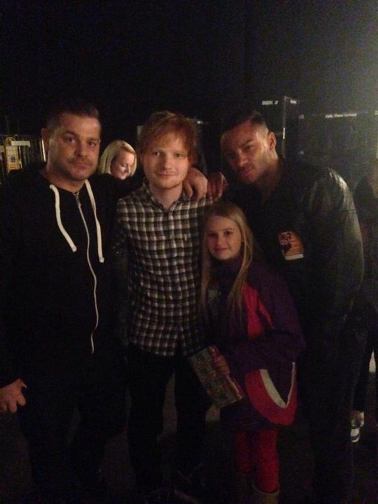 Jethro Sheeran (tv.) med fætter Ed Sheeran.