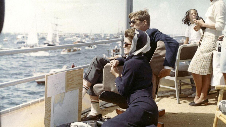 John F. Kennedy med sin hustru, Jackie Kennedy i 1962.