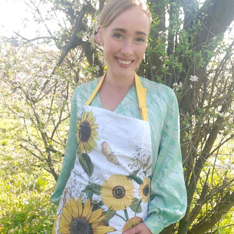 Lena Thorsson i sine kommende arbejdsklæder