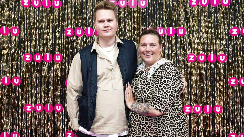 Lasse Madsen og Ane Høgsberg til Zulu Awards. De blev sidste år forældre til en lille dreng.