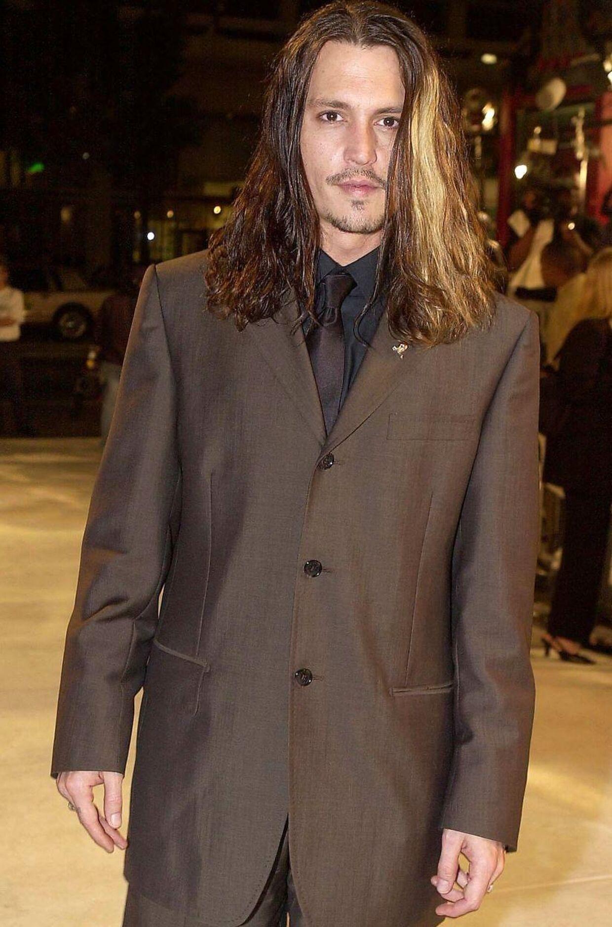 Johnny Depp på den røde løber til premieren på filmen 'Blow'.