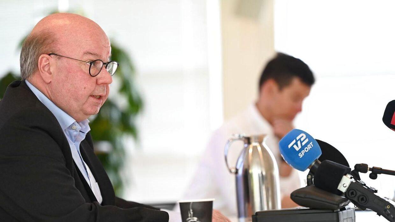 Jesper Møller (tv.), formand i DBU.