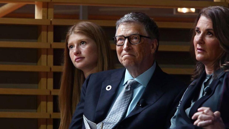 Bill og Melinda med deres ældste datter Jennifer Gates i 2017.