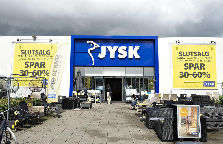 Jysk butik i Silkeborg , mandag 19. august 2019. Lars Larsen, stifteren af Jysk Sengetøjslager, er død. Lars Larsen boede i Silkeborg.. (Foto: Henning Bagger/Ritzau Scanpix)