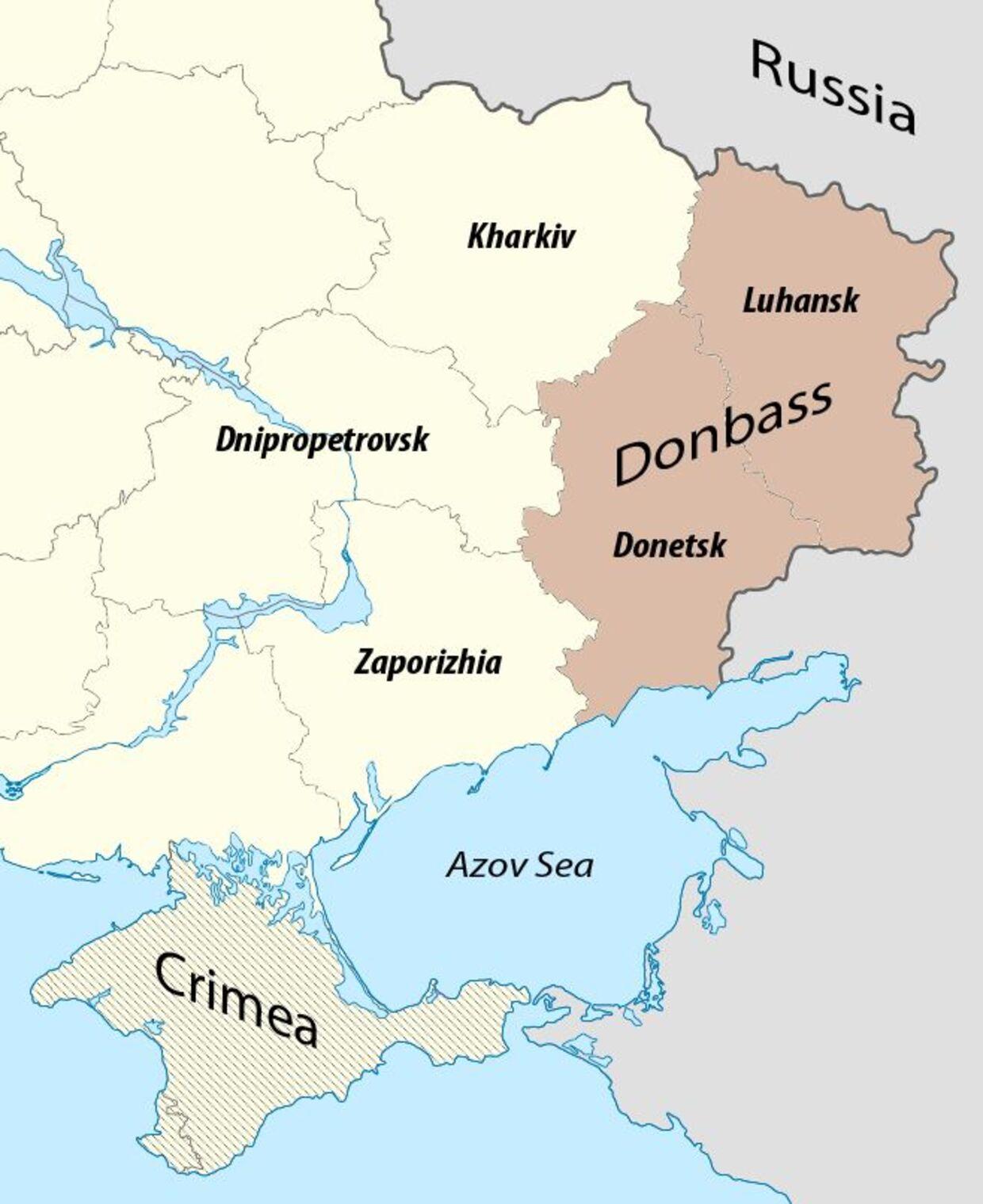 Den østlige Donbas-region i Ukraine har i mange år været besat af prorussiske styrker.