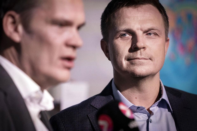 Streamingtjenesten Viaplay holder pressemøde med værter og fodboldeksperter som Jesper Grønkjær om dækning af EURO 2020, København 28 janaur 2020. (Foto: Liselotte Sabroe/Ritzau Scanpix)