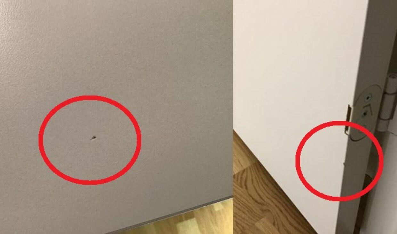 Kenneth Thorsson er blandt de lejere, som ikke forstod, hvorfor bordpladen i køkkenet (venstre foto) skulle udskiftes ved fraflytning. Han undrede sig efterfølgende over, at den nye lejer sagde, at bordpladen aldrig var blevet skiftet. Det skete først flere måneder senere og efter flere klager til DEAS og HP Ejendomsservice. De fastholder, at brud på overfladen gør, at bordpladen skal udskiftes.