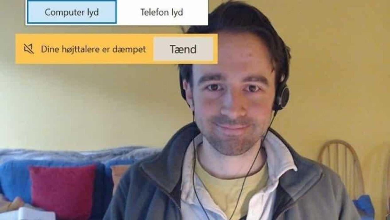 Her er den mystiske mand, der siden februar er dukket op under talrige videomøder i Odder Kommune. Foto: Odder Kommune