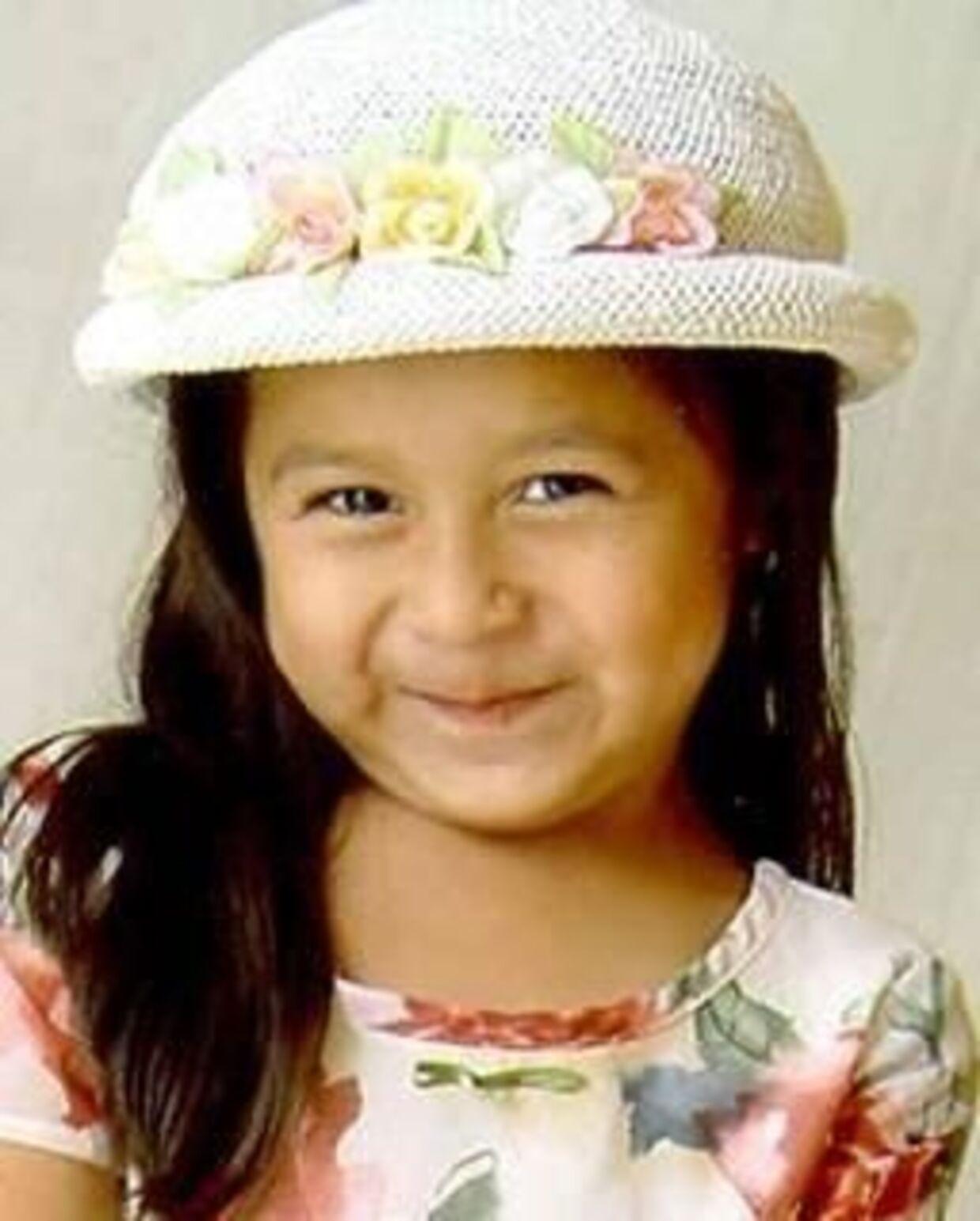 Her ses Sofie Juarez. Hun forsvandt dagen før sin fem-års fødselsdag.