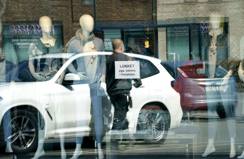 Også butikkerne er lukkede i Hørsholm.
