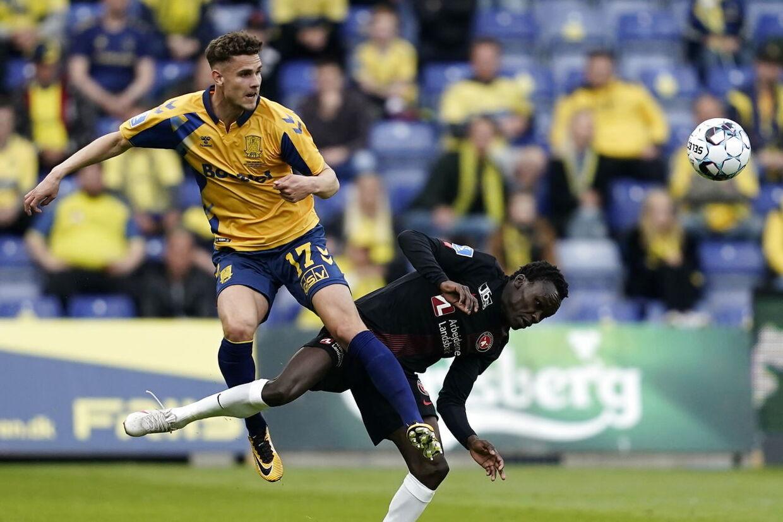 3F Superligakamp mellem Brøndby IF og FC Midtjylland på Brøndby Stadion i Brøndby, søndag den 9. maj 2021.