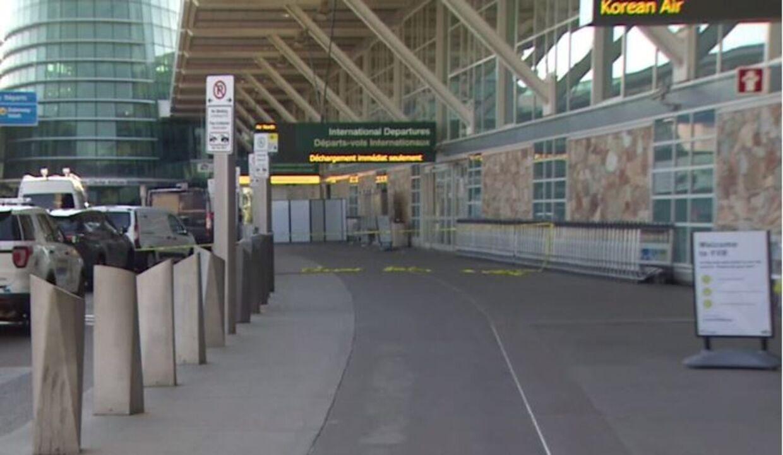 Lufthavnen var tom for rejsende efter skudepisoden.