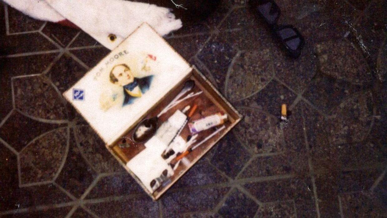 Beviser fundet i garagen, hvor Kurt Cobain blev fundet død. Foto: Seattle Police Department