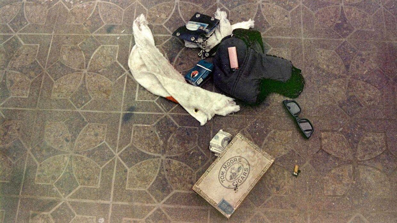 'Beviser' fundet i garagen, hvor Kurt Cobain blev fundet død. Foto: Seattle Police Department