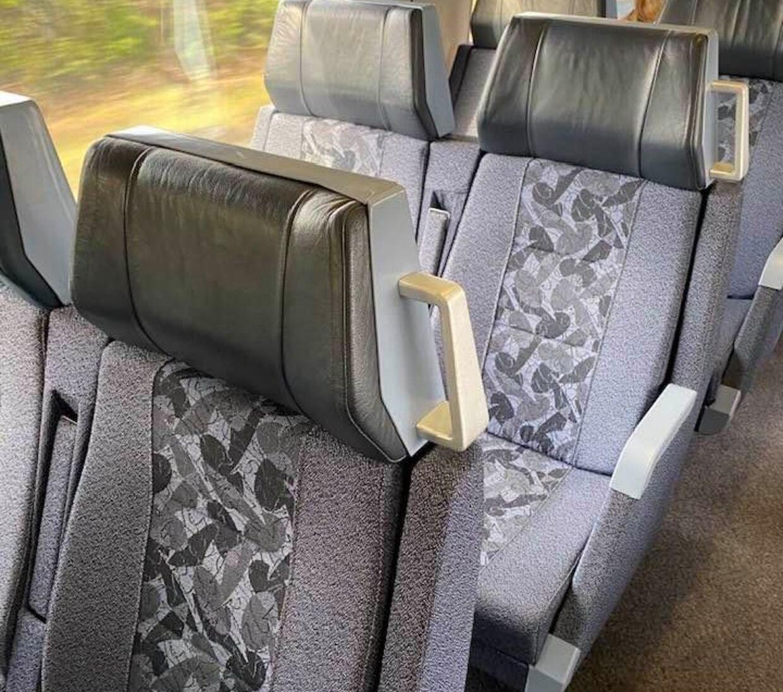 Selvom DSB-appen ifølge Martin Ågerup meldte udsolgt af pladsbilletter, så var der masser af ledige sæder. Privatfoto